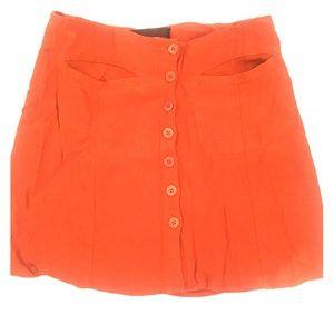 Burnt Orange Reformation Skirt
